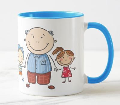 """Caneca Personalizável """"Melhor que ter-te como Pai é ter-te como Avô (dos meus Filhos)"""""""