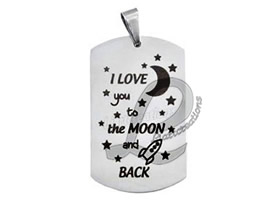 "Chapa Estilo Militar ""Love you to the Moon and Back"""