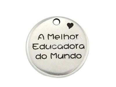 Medalha Zamak Gravação A Melhor Educadora do Mundo