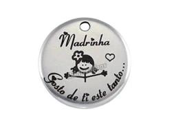 "Medalha Zamak  "" Madrinha, gosto de ti este tanto..."""