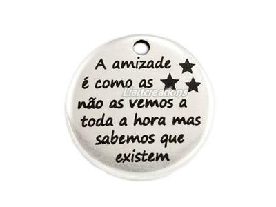 """Medalha Zamak """" A amizade é como as estrelas..."""""""