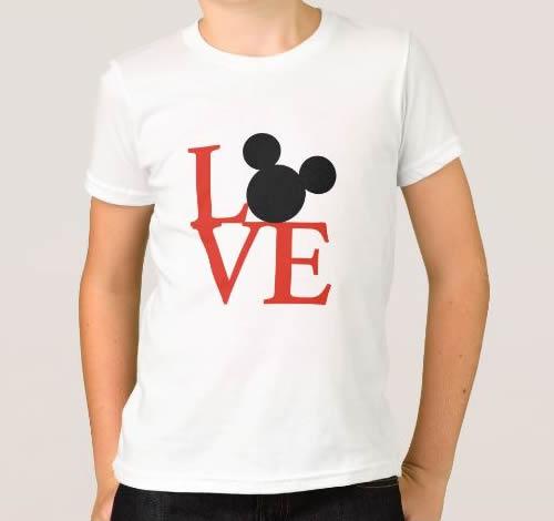 T-shirt Menino Love c/Mickey