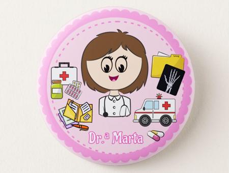 Crachá Personalizável Médico/a Ortopedista