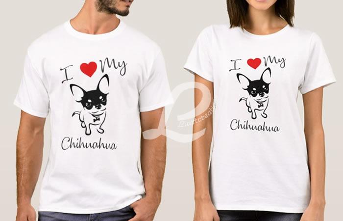 T-shirt I love my Chihuahua