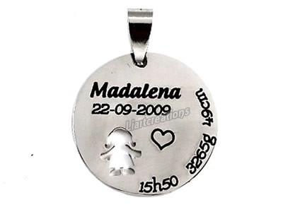 Medalha de Nascimento com Menina Recortada