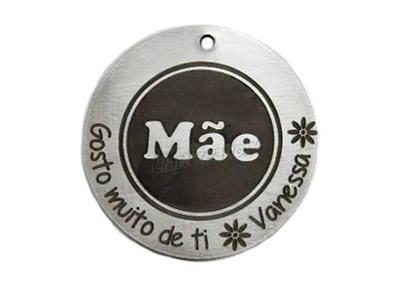 "Medalha Alumínio ""Mãe, Gosto muito de ti."""