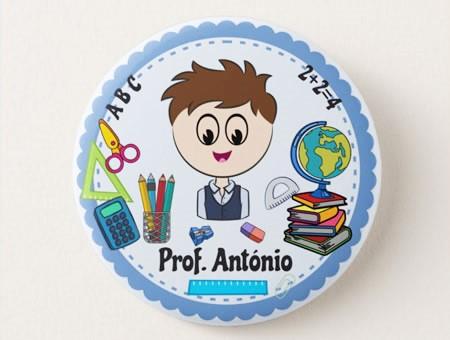 Crachá Personalizável Professor/a