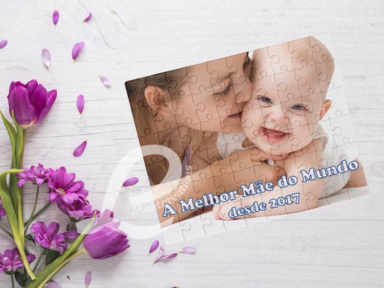 """Puzzle Personalizável  """"A melhor Mãe do Mundo"""""""