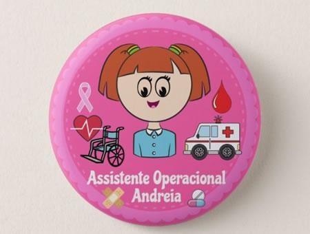 Crachá Personalizável Assistente Operacional de Saúde