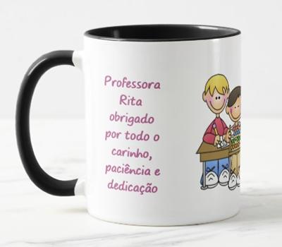 Caneca Professora obrigado pelo carinho, paciência e dedicação.
