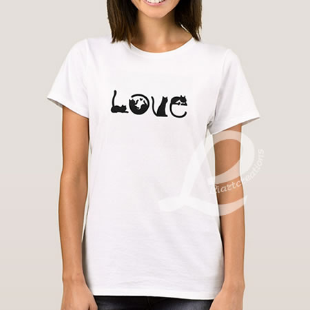 T-shirt Love Gatos