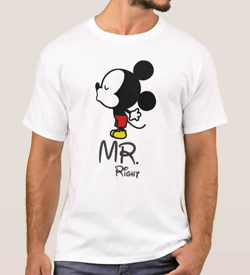 T-tshirt Mr Right + Mickey