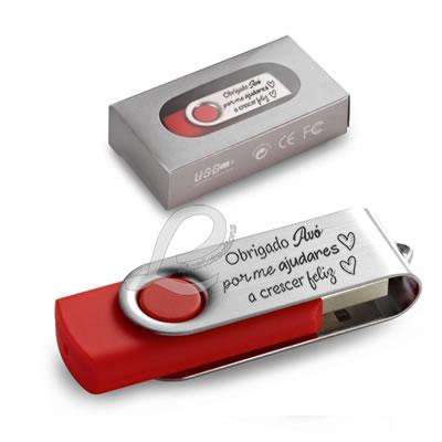 """Pen USB 8GB """"Obrigado Avó por me ajudares a crescer feliz"""""""