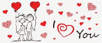 """Caneca Casal Namorados """"I Love You"""""""