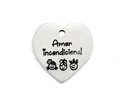 Coração Alumínio Amor Incondicional