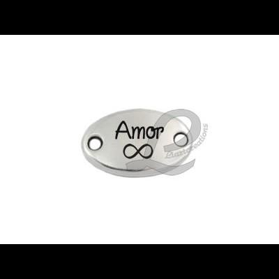 Conector Zamak Gravação Amor Infinito