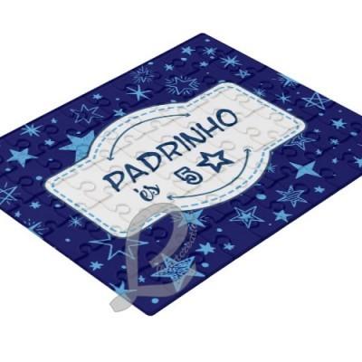 "Puzzle Personalizável  ""Padrinho és 5 estrelas"""