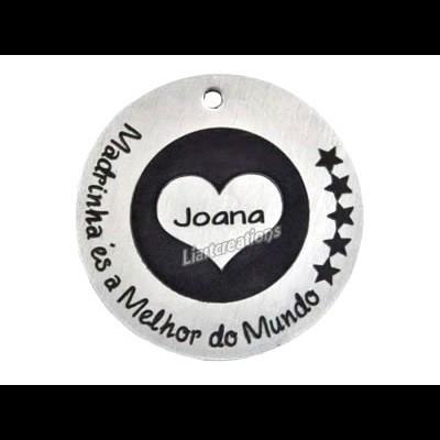 """Medalha Alumínio  """"Madrinha és a Melhor do Mundo"""""""