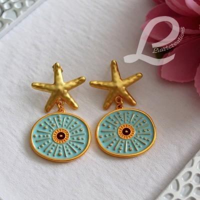 Brincos Dourados Estrela