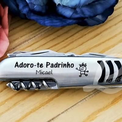 "Canivete multifunções ""Adoro-te Padrinho"""