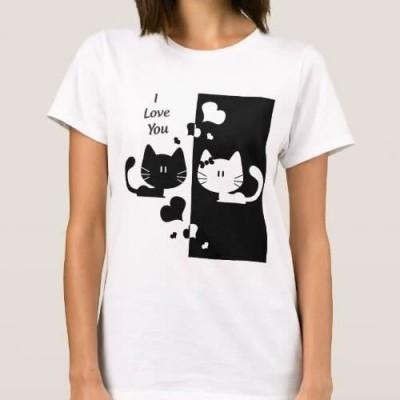 T-shirt Gatinhos Apaixonados