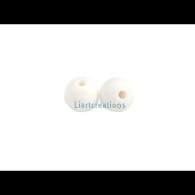 Bolas Acrílicas 8mm Branco ( Emb.100 unid.)