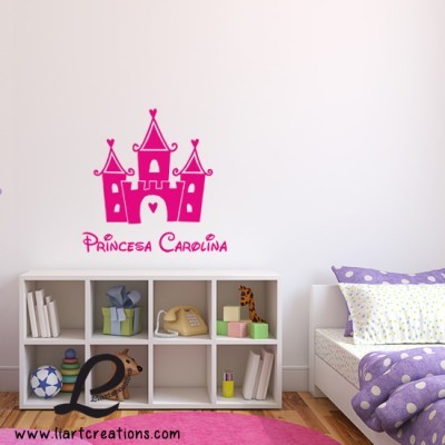 Palácio Princesa + Nome - Vinil Decorativo