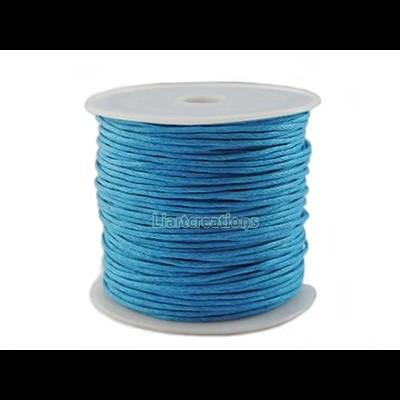 Fio Algodão Encerado 1mm Azul
