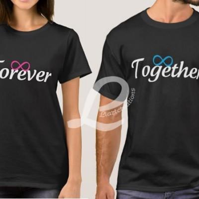 T-shirt  Namorados Forever Together