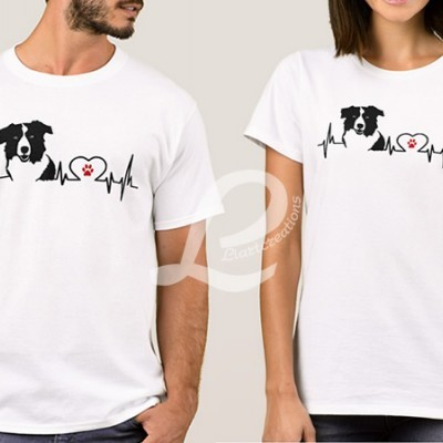 T-shirt Batimentos Cardiacos Border Collie