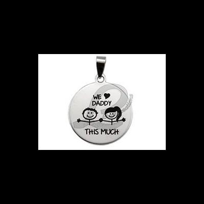 Medalha Aço ...Love Daddy This Much