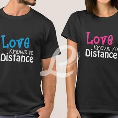 T-shirt  Namorados Love Knows no Distance