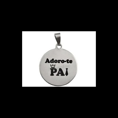 "Medalha Inox ""Adoro-te Pai"""