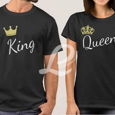 T-shirt  Namorados King/Queen