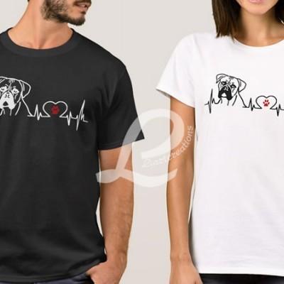 T-shirt Batimentos Cardiacos Boxer