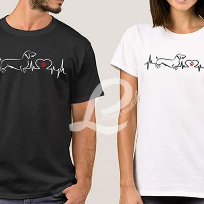 T-shirt Batimentos Cardiacos Teckel