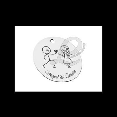 Medalha Gravação Casal de Namorados + Nomes