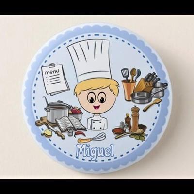Crachá Personalizável Cozinheiro/a