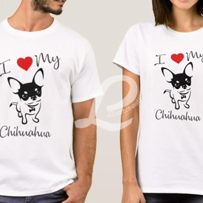 T-shirt I love my Chihuahua