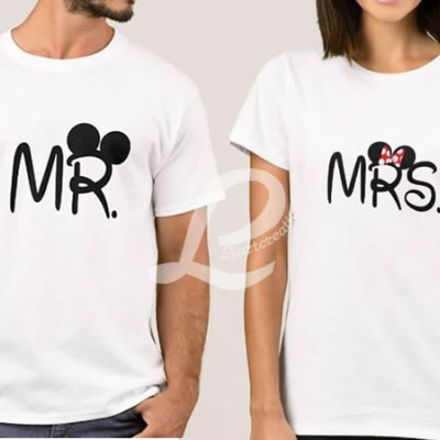 T-shirt  Namorados MR / MRS