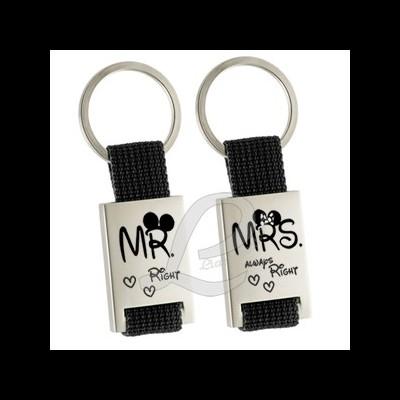 Conjunto de Porta-Chaves Mr. e Mrs. Right