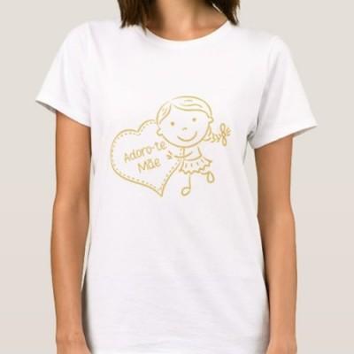 "T-shirt  ""Menina Adoro-te Mãe"""