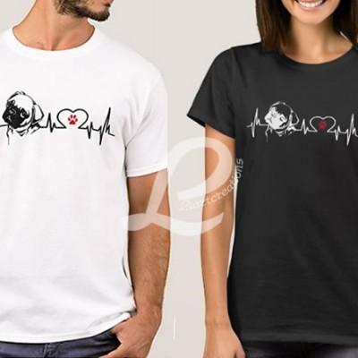 T-shirt Batimentos Cardiacos Pug