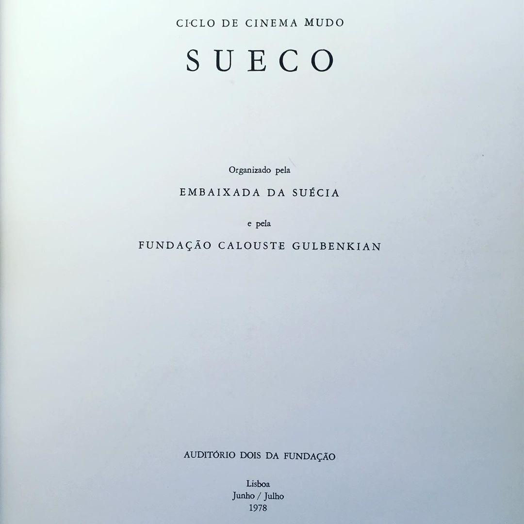 CICLO DE CINEMA MUDO SUECO • JOÃO BÉNARD DA COSTA (ORG.)
