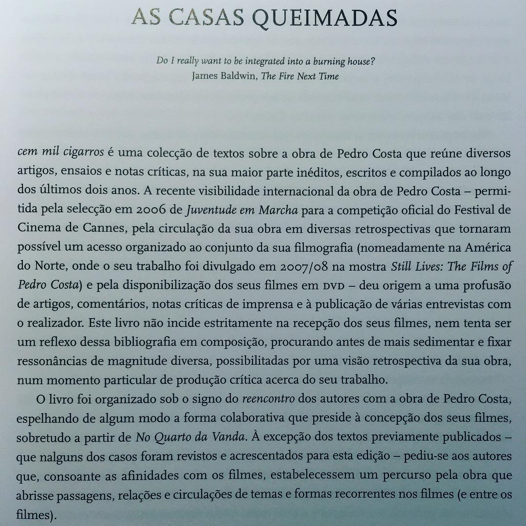 CEM MIL CIGARROS • OS FILMES DE PEDRO COSTA • RICARDO MATOS CABO (ED.)