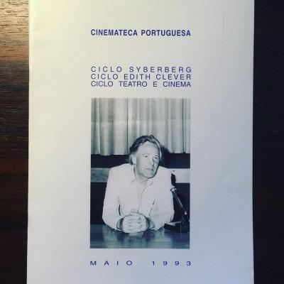 CICLO SYBERBERG • CICLO EDITH CLEVER • CICLO TEATRO E CINEMA