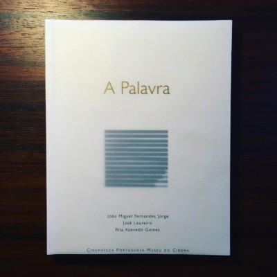 A PALAVRA • JOÃO MIGUEL FERNANDES JORGE