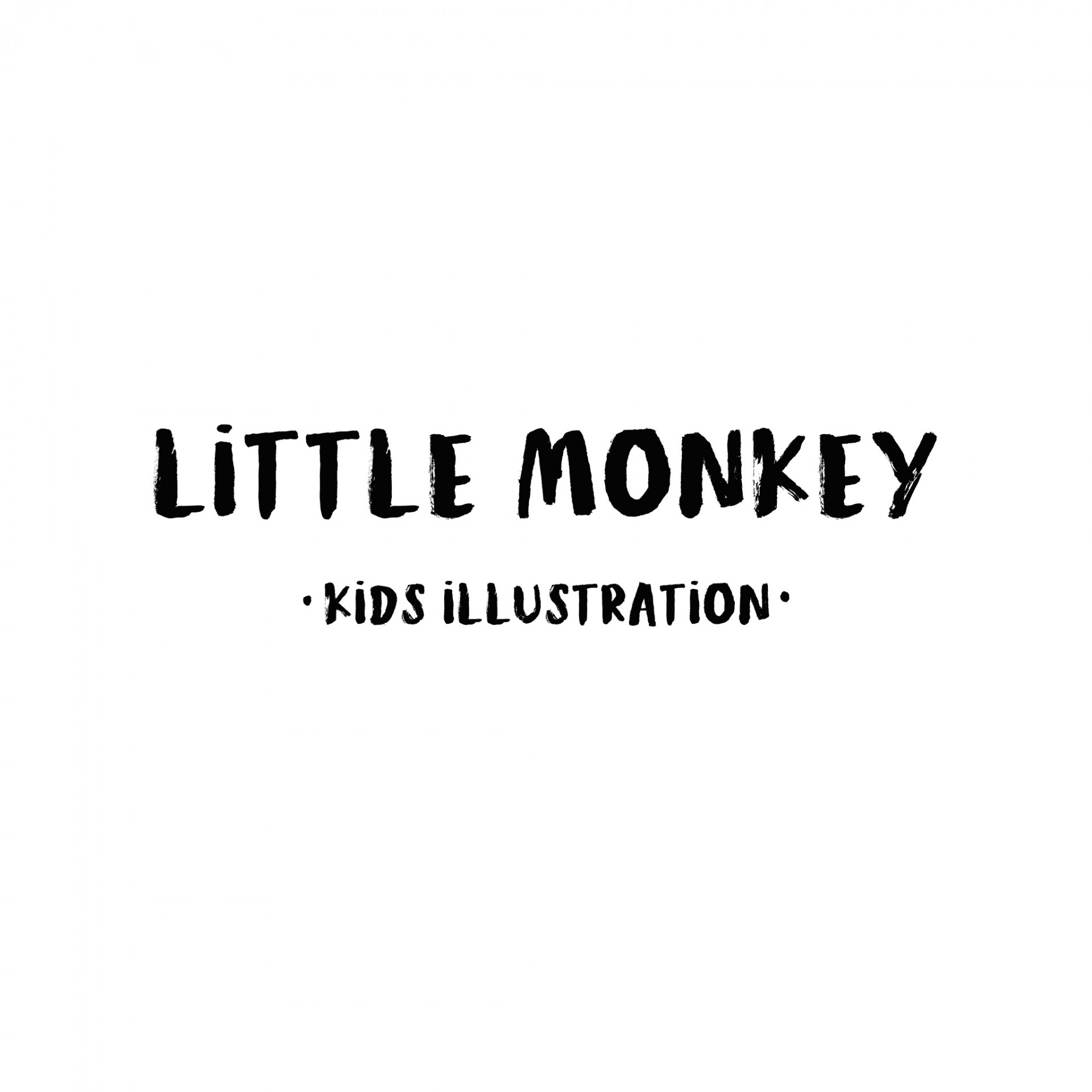 Little Monkey kids illustration