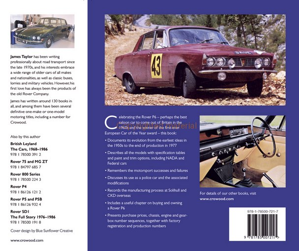 Rover P6 2000, 2200, 3500 - The Complete History