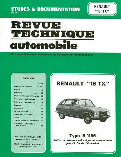 Renault 16 TX 1974-80 (RTA339)